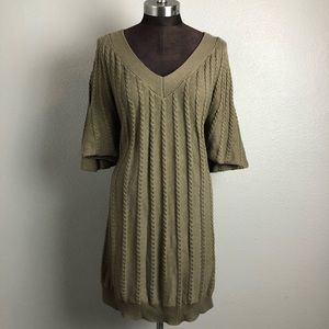 Calvin Klein Chunky Knit Batwing Sweater Dress XL